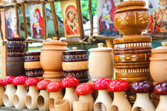 Sale of souvenirs in the historical and cultural reserve Stock Images