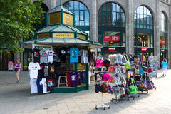 Sale of souvenirs on Kurfuerstendamm Royalty Free Stock Photos