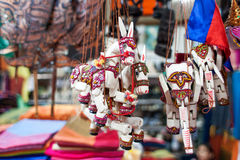 Sale of souvenirs in the market, Siem Reap, Cambodia. Stock Photos