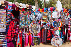 Sale of  souvenirs in Seville near  Plaza de Espana Royalty Free Stock Photo