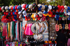 Sale of  souvenirs in Seville Royalty Free Stock Images