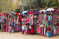 Sale of  souvenirs in Seville Royalty Free Stock Photos