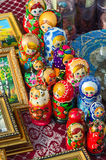 Sale of souvenirs on Shrovetide festivities, Gomel, Belarus Stock Images
