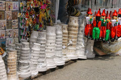 Sale of souvenirs at the street shop in Pisa, Italy Stock Image
