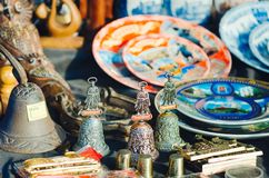 Sale of souvenirs for tourists royalty free stock photo