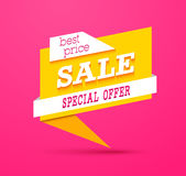 Sale Special Offer Banner. Stock Photos