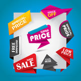 Sale and special offer bubble banner set Stock Images