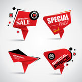 Sale and special offer bubble banner set Royalty Free Stock Photos