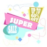 Sale special offer flat banner, up to 50 percent`s off. Vector. Sale special offer flat banner, up to 50 percent`s off. Vector illustration Vector Illustration