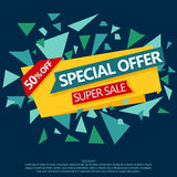 Sale special offer paper banner Royalty Free Stock Image
