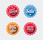 Sale and Special Offer Retro Badges Royalty Free Stock Photo