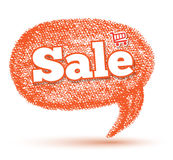 Sale speech banner drawing style Stock Images