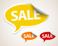 Sale speech bubble as sticker Stock Photos