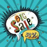 Sale speech bubble Stock Image