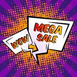 Sale speech bubble. Final mega sale special shopping offer speech bubble vector illustration Stock Photography