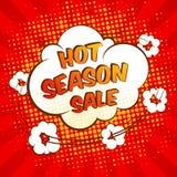 Sale speech bubble. Hot season sale advertising promotion special offer speech bubble vector illustration Royalty Free Stock Photos