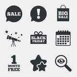 Sale speech bubble icon. Black friday symbol. Stock Photography
