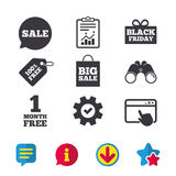 Sale speech bubble icon. Black friday symbol. Royalty Free Stock Photos
