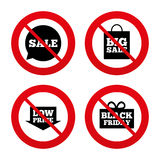 Sale speech bubble icon. Black friday symbol Royalty Free Stock Photo