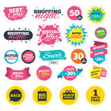 Sale speech bubble icon. Black friday symbol. Royalty Free Stock Image