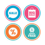 Sale speech bubble icon. Discount star symbol. Royalty Free Stock Image