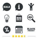 Sale speech bubble icon. Discount star symbol. Royalty Free Stock Photo