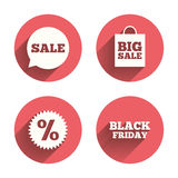 Sale speech bubble icon. Discount star symbol Royalty Free Stock Image