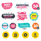 Sale speech bubble icon. Discount star symbol. Stock Images