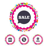 Sale speech bubble icon. Discount star symbol. Royalty Free Stock Photos