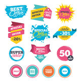 Sale speech bubble icon. Thank you symbol. Royalty Free Stock Photos