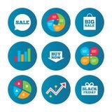 Sale speech bubble icons. Buy now arrow symbol. Stock Image