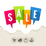 SALE - Speech Bubbles Royalty Free Stock Images