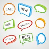 Sale speech bubbles in 3d Royalty Free Stock Image
