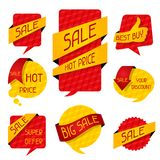 Sale speech bubbles and banners Royalty Free Stock Photos