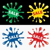 Sale splash Royalty Free Stock Images