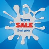 Sale splash label design Royalty Free Stock Images