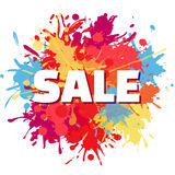 Sale splashes  abstract design Royalty Free Stock Photos