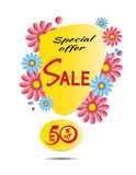Sale Spring special offer poster. Stock Image