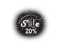 Sale stamp. Vector 20% Sale stamp with white background Stock Images