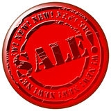 Sale stamp Royalty Free Stock Images