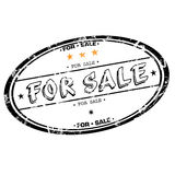 For sale stamp stock image