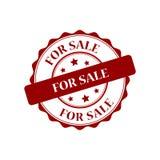 For sale stamp illustration. For sale red stamp seal illustration design Stock Photography