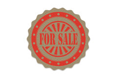 For sale stamp on paper Royalty Free Stock Photography