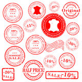 Sale stamp  set Stock Photo