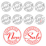 SALE stamp -  set Stock Photo