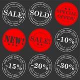 Sale stamp  set Stock Photos