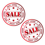 Sale stamp. Vector image. Stock Photo