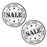 Sale stamp. Vector image. Stock Image
