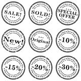 Sale stamp vector set Stock Image