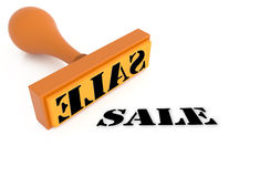 Sale from stamper. In white background Royalty Free Stock Images